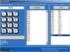 Screenshot für SieMasoft Vanity Converter